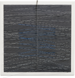 Jesús Rafael Soto, 'Cuadrado virtual azul, con gris,' 1977, Phillips: Latin America