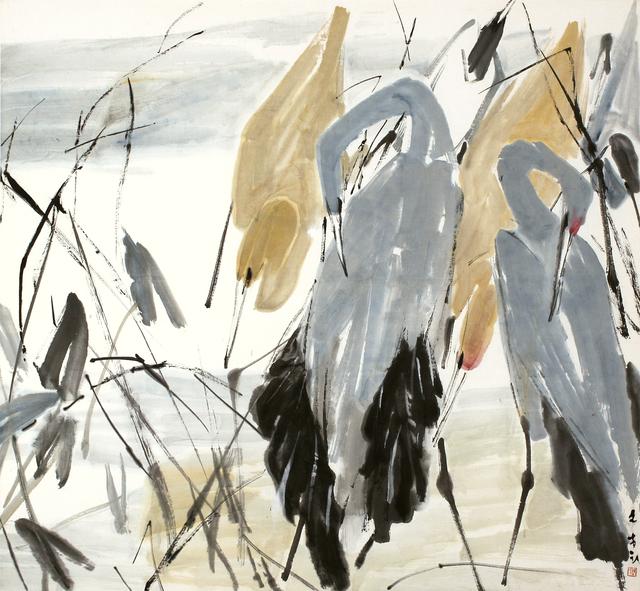 , 'Egrets,' , Artcommune Gallery