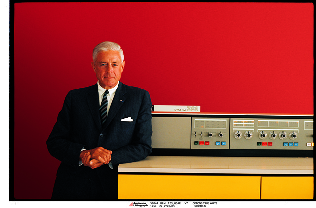 , 'Thomas Watson Jr. with IBM 360,' 1964, New York Historical Society