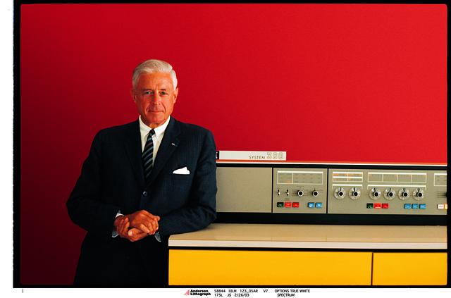 , 'Thomas Watson Jr. with IBM 360,' 1964, New York Historical Society