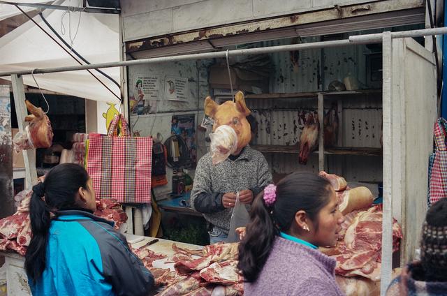 , 'Meat Market, Cerro de Pasco, Peru,' 2012, Anastasia Photo