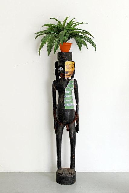 , 'Sculpture nulle 1980, art syncrétique 1964, l'interrogation génétique 1971, mettre n'importe quel objet sur la tête 1994. En remake 2011,' 2011, Nadja Vilenne