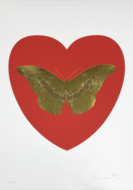 Damien Hirst, 'I Love You - Red/Oriental Gold/Cool Gold', 2015, Hamilton-Selway Fine Art
