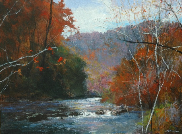 , 'Fall on the Wautauga,' 2018, Shain Gallery