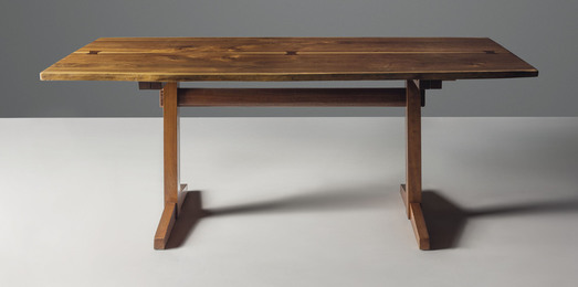 A 'Trestle' dining table