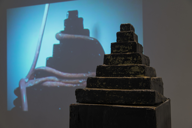 , 'Untitled (Black Mountain and Tubes) / Night and Fog (Tubes on Black Mountain),' 2010, Los Angeles Contemporary Exhibitions