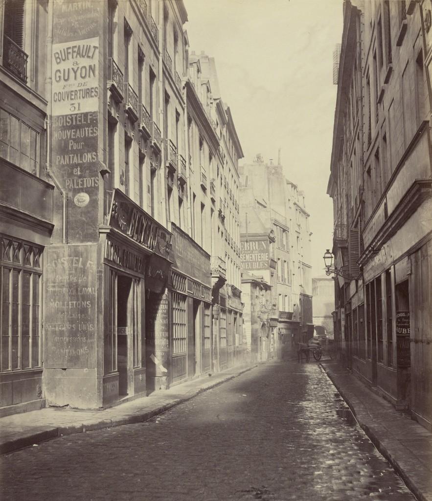 Charles Marville, 'Rue des Bourdonnais de la rue de Rivoli,' 1865, J. Paul Getty Museum