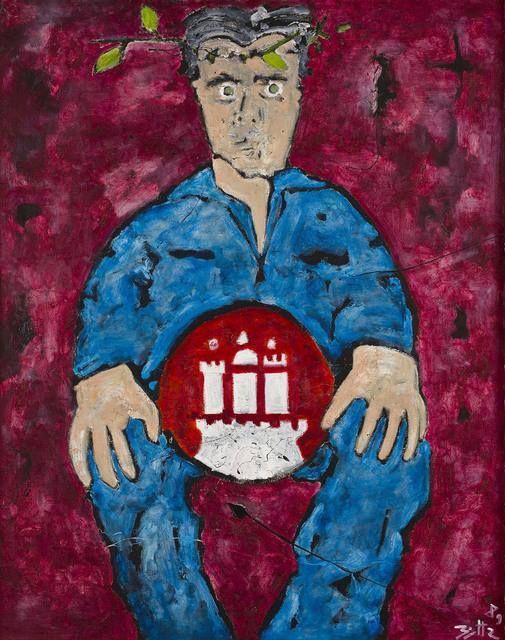 , 'Selbst in de Chirico Pose (Self-portrait in De Chirico Pose),' 1989, Marlborough London