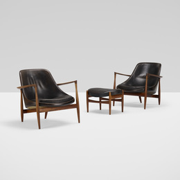 Elizabeth Chairs, Pair and Ottoman