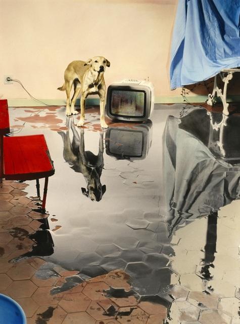 , 'Me levanto por la mañana, hay un gran charco en mi casa,' 1986, Ansorena Galeria de Arte