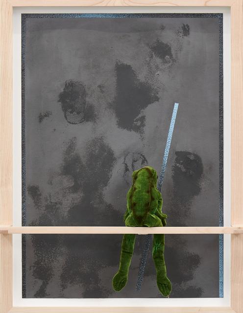 , 'o.T. (Froggy surface facing-light-blue),' 2018, Ruttkowski;68