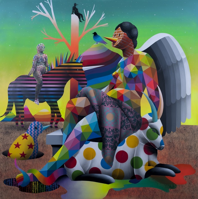 Okuda San Miguel, 'The mysterius knight of God's garden', 2017, MAGMA gallery
