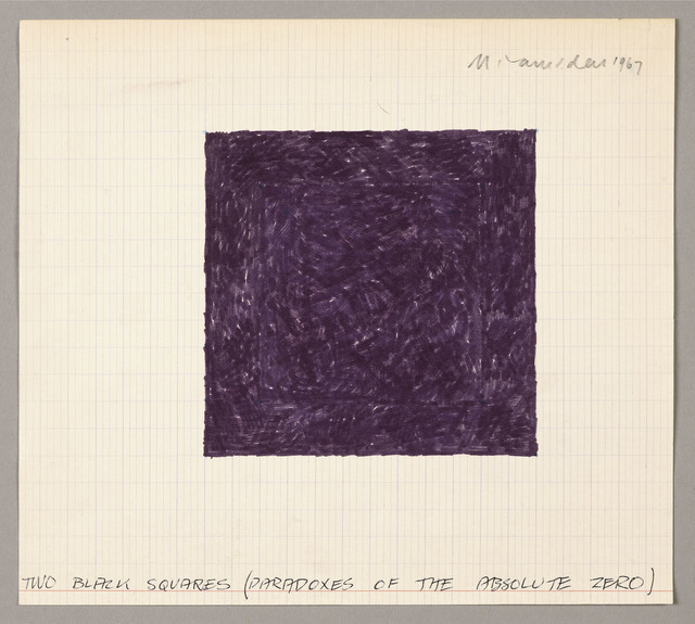 , 'Two Black Squares (Paradoxes of the Absolute Zero),' 1967, SPROVIERI