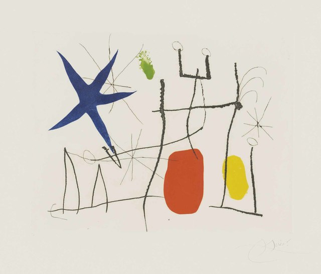 Joan Miró, 'Plate 9 from: Càntic del Sol', 1975, Christie's