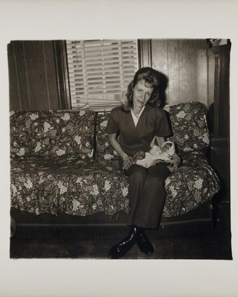 Diane Arbus, A woman with her baby monkey, N.J. 1971, 1971, gelatin silver print, 14 7/8 x 15 in. Smithsonian American Art Museum; Museum purchase. © The Estate of Diane Arbus