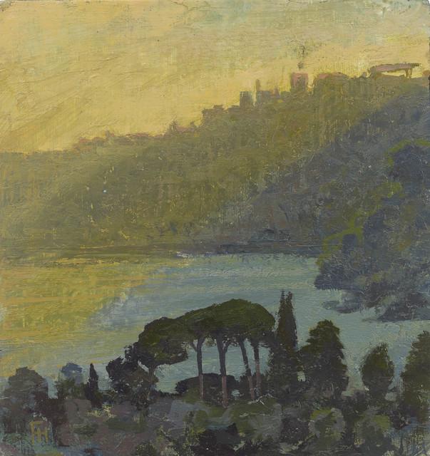 , 'Lago Nemi at Dusk, Temple of Diana,' 2017, John Martin Gallery