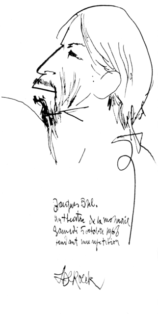 , 'Jacques Brel,' 1968, Musée d'Ixelles