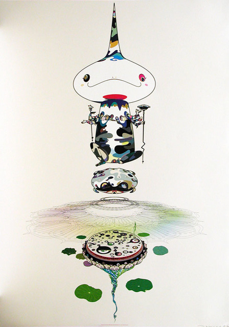 Takashi Murakami, 'Reversed Double Helix (White)', 2005, Print, Offset lithograph, Dope! Gallery