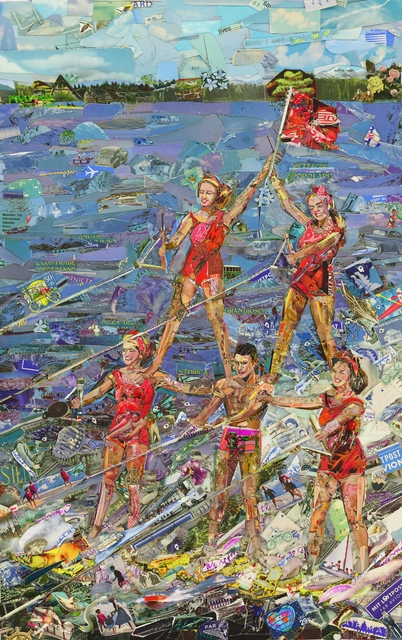 , 'Waterskiing, (Postcards from Nowhere),' 2014, Galerie Xippas