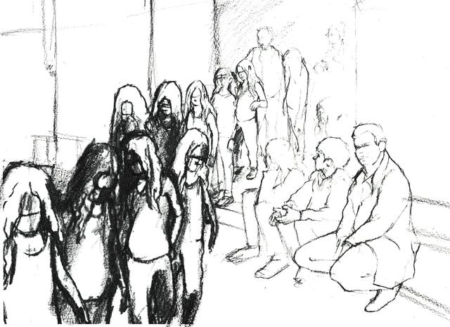, 'Tino Sehgal's Annlee, drawn at Palais de Tokyo,' 2013, Palais de Tokyo