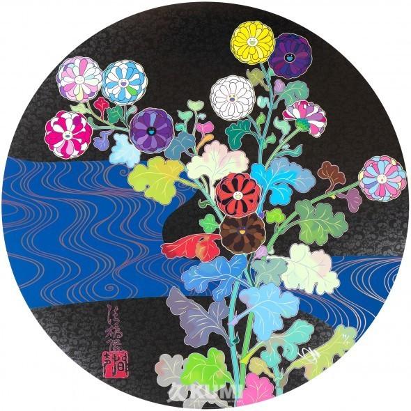 Takashi Murakami, 'Korin: Azure River', 2015, Print, Offset Print, Kunzt Gallery
