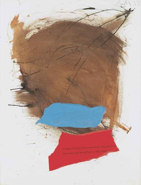 Robert Motherwell, 'Untitled', 1959, Dedalus Foundation