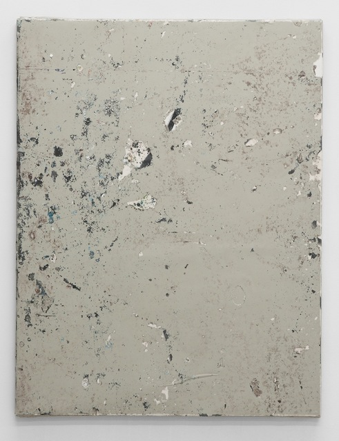 , 'Linoleum composition in grey with knife II,' 2012, Antoine Levi