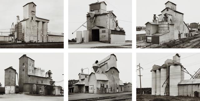 Bernd and Hilla Becher, 'Grain Elevators', 1986, Photography, Six gelatin silver prints, Phillips