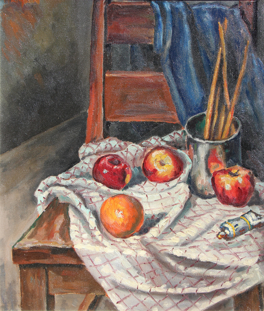 , 'School Chair and Brushes,' 1941, Bau-Xi Gallery