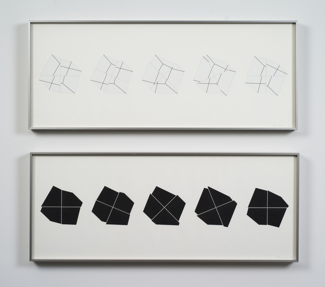 Manfred Mohr, 'P-308c-BL / P-308c-WH', 1980, bitforms gallery