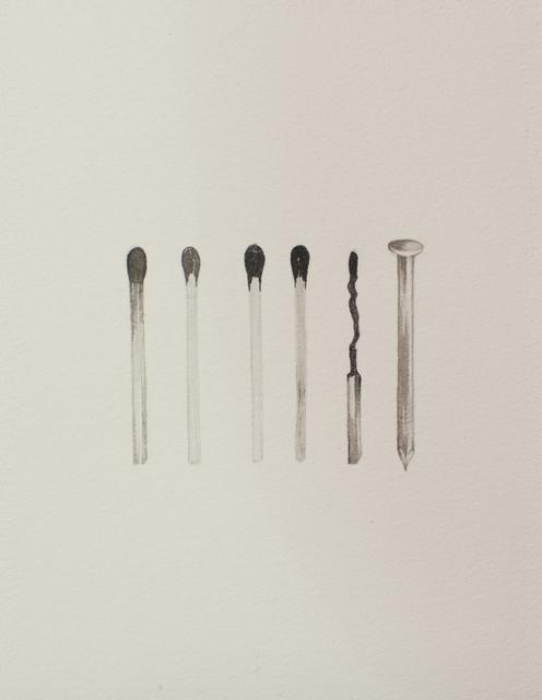 , 'heart (matches),' 2016, Galerie D'Este