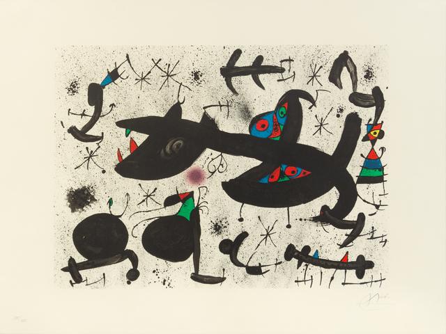 Joan Miró, 'Untitled (pl. 10 from Homenatge a Joan Prats)', 1971, Hindman