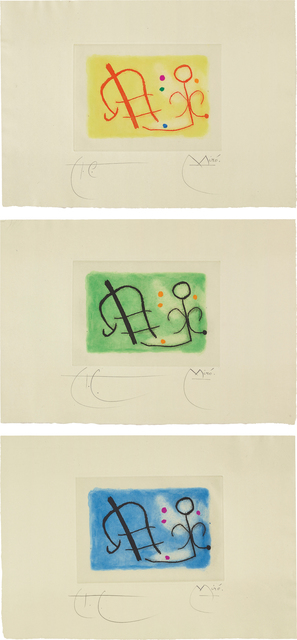 Joan Miró, 'Fusée (Rocket): three plates', 1959, Phillips