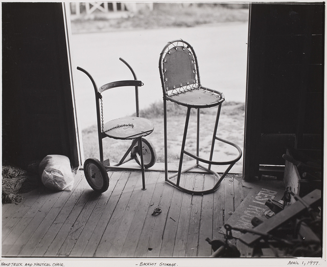 , 'Hand Truck and Nautical Chair, Backlot Storage,' 1977, George Eastman Museum