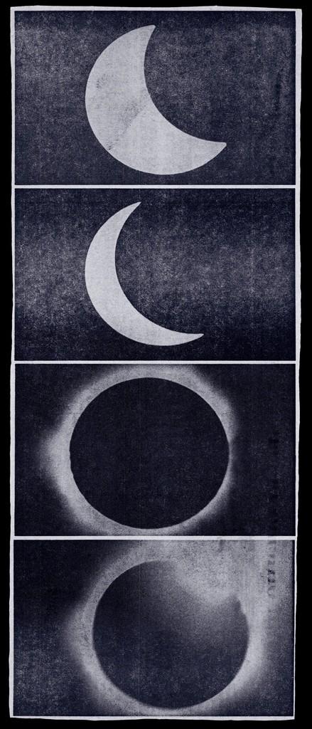 Sara VanDerBeek, 'Eclipse Newspaper Blue,' 2010, Metro Pictures