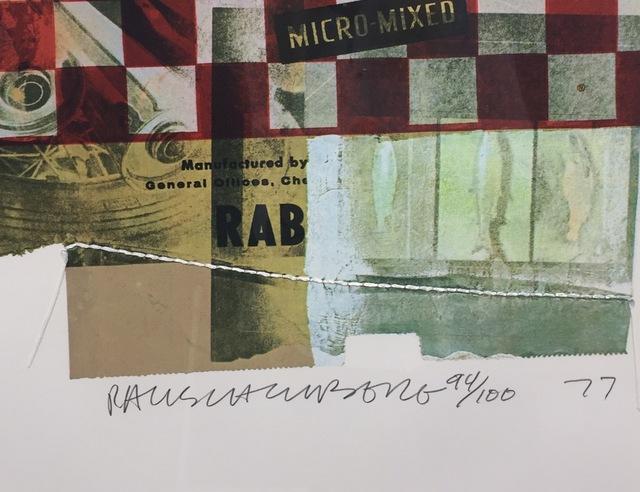 Robert Rauschenberg, 'Chow Bags - Rabbit Chow ', 1977, Print, Screenprint with collage of string, Gregg Shienbaum Fine Art