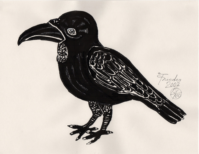 , 'India Ink Raven (AF Print5),' 2002, The Good Luck Gallery