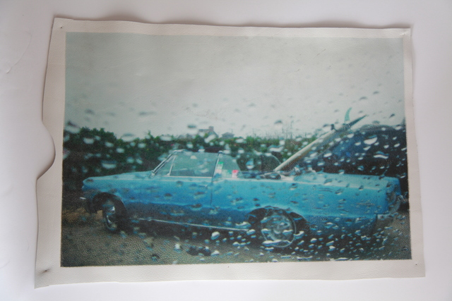 , 'White Leather Series: Blue Cadillac at Ditch lot,' 2015, Jo Shane + Maripol