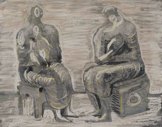 , 'Two women and children,' 1945, Bernard Jacobson Gallery