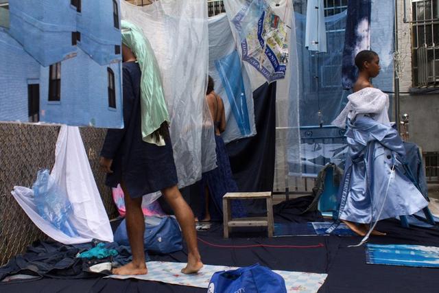 , 'Untitled Blue (Taylor, Ayasha, Destiny at Sea),' 2016, Jenkins Johnson Gallery