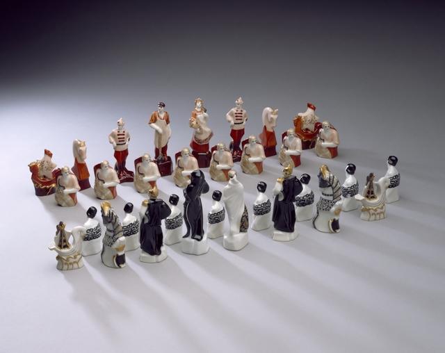 Natalya Yakovlevna Danko, 'The Reds and the Whites chess set', 1922-1932, Cooper Hewitt, Smithsonian Design Museum