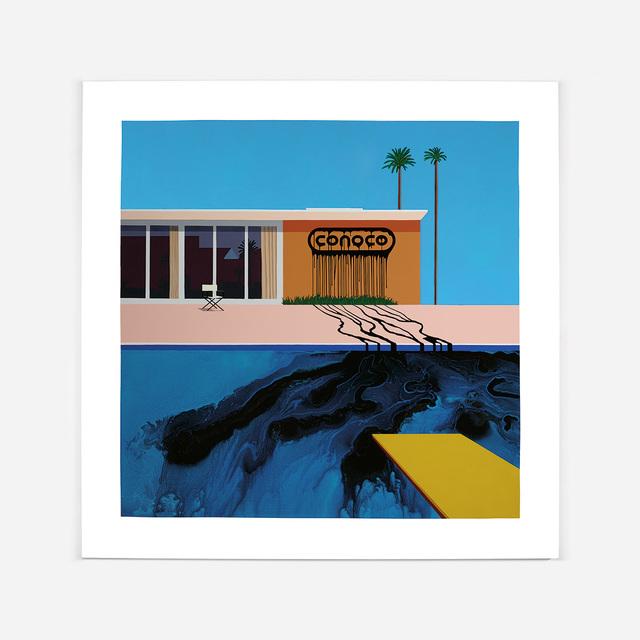 , 'Oil Painting, Conoco Blue/Blue,' 2016, Lazinc