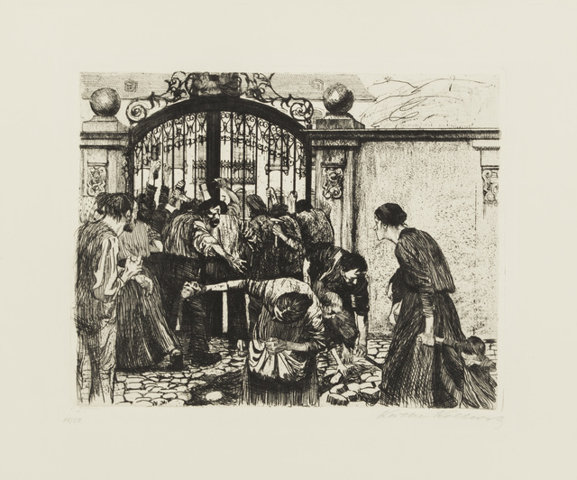 , 'Storming the Gate,' ca. 1900, Galerie St. Etienne