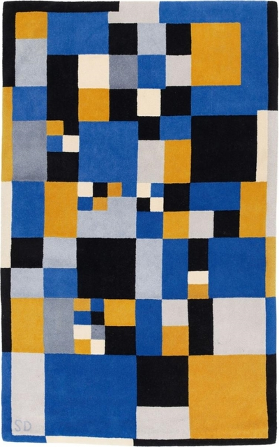 Sonia Delaunay, 'Carrés Magique carpet in virgin wool', vers 1980, Design/Decorative Art, Leclere