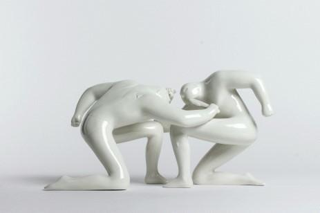 Cleon Peterson, 'Balance of Power', 2016, Sculpture, White porcelain sculpture, DIGARD AUCTION