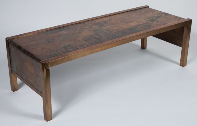'Philip and Kelvin LaVerne Bronze Spring Festival Low Table', 1960s, Design/Decorative Art, Doyle