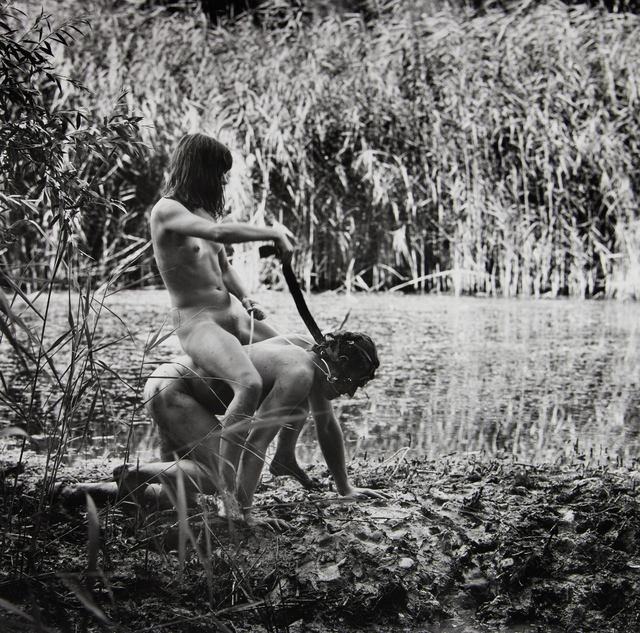 , 'Otto Muehl, Action in Freudenau Water – Masochistic Jockey Action in the Mud Doris Heinrich, Malte Olschewski, Vienna,' 1969, Ostlicht. Gallery for Photography