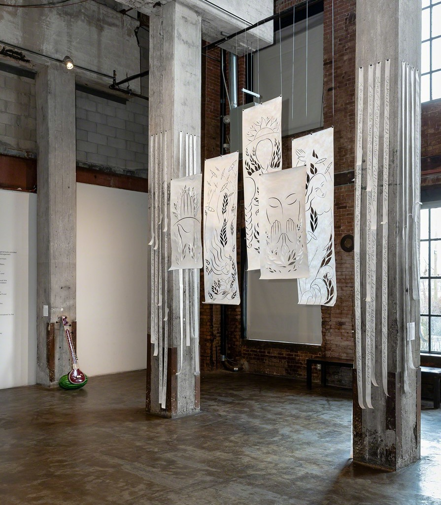 Installation view of Empathy, Curated by Gabriel de Guzman.  Image courtesy of Smack Mellon. Photo by Etienne Frossard.