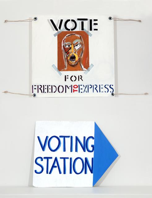 , 'Election Poster II,' 2018, Barnard