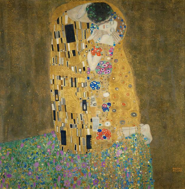 Gustav Klimt, 'Der Kuss (The Kiss),' 1907-1908, Art History 101